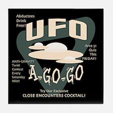 UFO A Go Go Tile Coaster