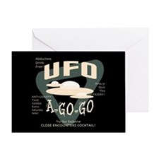UFO A Go Go Greeting Card