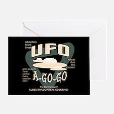UFO A Go Go Greeting Card