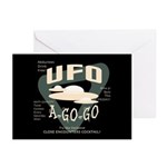 UFO A Go Go Greeting Cards (Pk of 20)