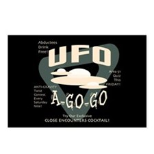 UFO A Go Go Postcards (Package of 8)