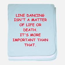 LINE dancing baby blanket