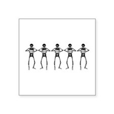 "Washboard Skeletons Square Sticker 3"" x 3"""