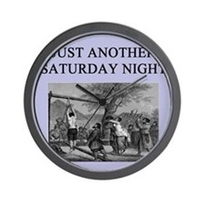 funny sadism joke gifts t-shirts Wall Clock