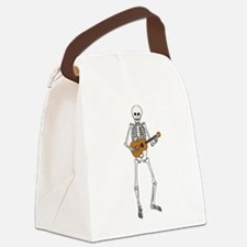Ukulele Skeleton Canvas Lunch Bag