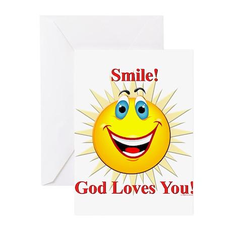 Smile! God Loves You! Greeting Cards (Pk of 10
