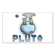 Funny Pluto Attacks Rectangle Decal