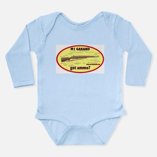 got ammo? Long Sleeve Infant Bodysuit