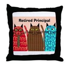 Retired Principal.PNG Throw Pillow