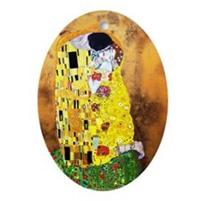 The Kiss by Gustav Klimt Ornament (Oval)