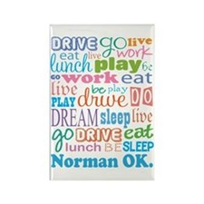 Norman Oklahoma Eat Sleep Rectangle Magnet