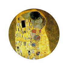 "The Kiss by Gustav Klimt 3.5"" Button"