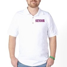 Pink Plaid Pattern Senior T-Shirt