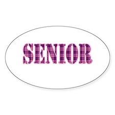 Pink Plaid Pattern Senior Decal