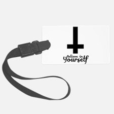 Believe In Yourself with Inverted Cross Luggage Tag