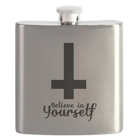 Believe In Yourself with Inverted Cross Flask