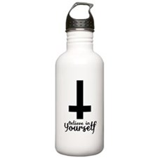 Believe In Yourself with Inverted Cross Water Bottle