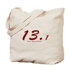 Red Half Marathon 13.1 Tote Bag