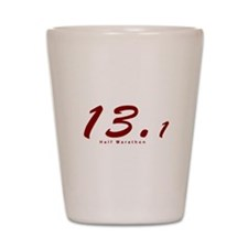 Red Half Marathon 13.1 Shot Glass