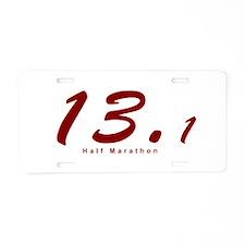Red Half Marathon 13.1 Aluminum License Plate
