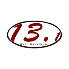 Red Half Marathon 13.1 Patches