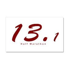 Red Half Marathon 13.1 Car Magnet 20 x 12
