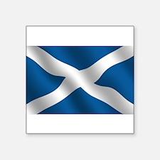 "Scottish Saltire Square Sticker 3"" x 3"""
