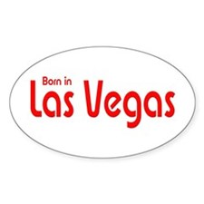 Born in Las Vegas Oval Decal