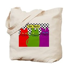 Vet Tech 3 cats whimical 2.PNG Tote Bag