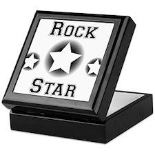 Rock Star Rockstar Halftone Design Keepsake Box