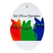 vet office manager.PNG Ornament (Oval)