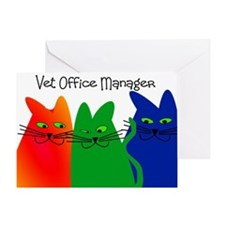 vet office manager.PNG Greeting Card