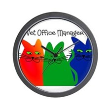 vet office manager.PNG Wall Clock