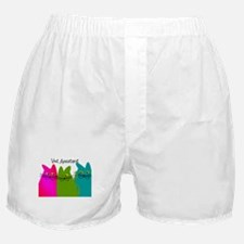 Vet Assistant whim cats.PNG Boxer Shorts