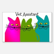 Vet Assistant whim cats.PNG Decal
