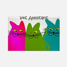 Vet Assistant whim cats.PNG Rectangle Magnet