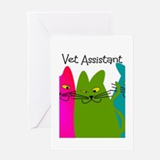 Vet Assistant whim cats.PNG Greeting Card