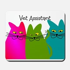 Vet Assistant whim cats.PNG Mousepad