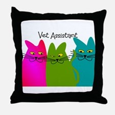 Vet Assistant whim cats.PNG Throw Pillow