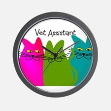 Vet Assistant whim cats.PNG Wall Clock