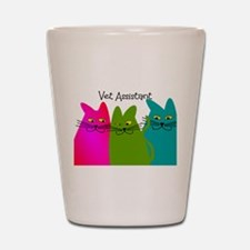 Vet Assistant whim cats.PNG Shot Glass