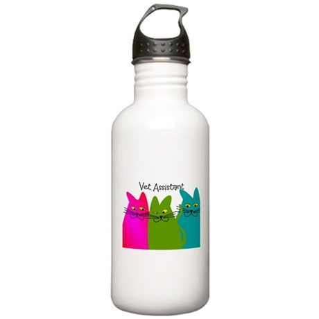 Vet Assistant whim cats.PNG Stainless Water Bottle