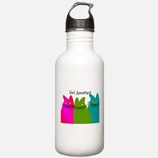 Vet Assistant whim cats.PNG Water Bottle