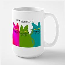 Vet Assistant whim cats.PNG Large Mug