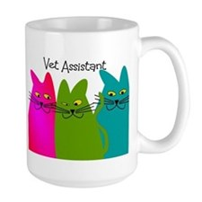 Vet Assistant whim cats.PNG Mug