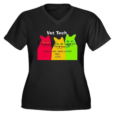 vet tech 1 darks.PNG Women's Plus Size V-Neck Dark