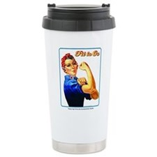 Fit to Go with Rose the Riveter Travel Mug