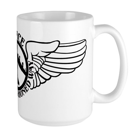B-52 Peace the Old Fashioned Way Large Mug