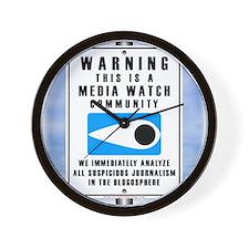 Media Watch Wall Clock