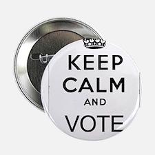 "Keep Calm Vote 2.25"" Button"